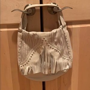 Jimmy Choo preloved bag w/ fringe and star detail